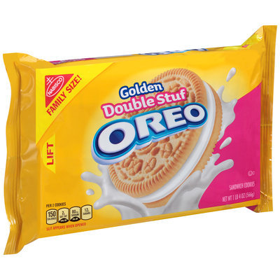 Nabisco Golden Double Stuf Oreo Sandwich Cookies