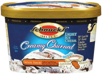 SCHNUCKS®,Creamy Churned, Denali® Original, Moose Tracks,Vanilla ice Cream with Peanut Butter Cups & Moose Tracks Fudge 1.75 QT