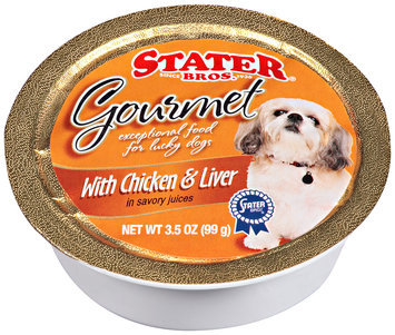 Stater Bros.® Gourmet Dog Food with Chicken & Liver in Savory Juices 3.5 oz. Bowl