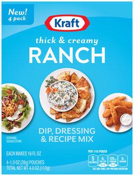 Kraft Thick & Creamy Ranch Dip, Dressing & Recipe Mix