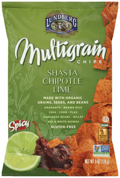 Lundberg® Shasta Chipotle Lime Multigrain Chips 6 oz. Bag