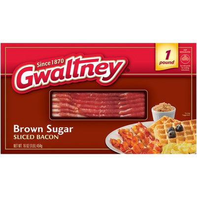 Gwaltney® Brown Sugar Sliced Bacon 16 oz. Box