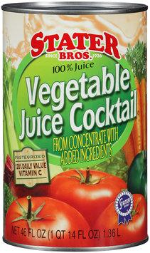 Stater Bros.® Vegetable Juice Cocktail 46 fl. oz. Can.