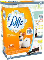 Basic Puffs Basic Facial Tissues, 3 Family Boxes, 180 Tissues per box