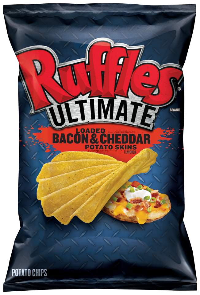 Ruffles® Ultimate Loaded Bacon & Cheddar Potato Skins Potato Chips