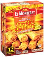 El Monterey® Nacho Cheese & Beef Extra Crunchy Mini Chimis 12 ct Box