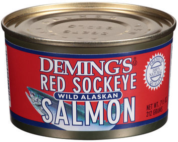 Deming's® Red Sockeye Wild Alaskan Salmon 7.5 oz Can