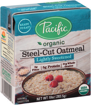 Pacific® Organic Lightly Sweetened Steel-Cut Oatmeal