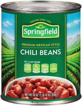 Springfield® Premium Mexican Style Chili Beans 30 oz. Can