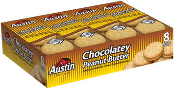 Austin® Chocolatey Peanut Butter Cracker Sandwiches 8 ct Tray