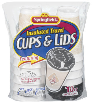 Special Value Insulated Travel 16 Oz Cups & Lids 10 Ct Bag