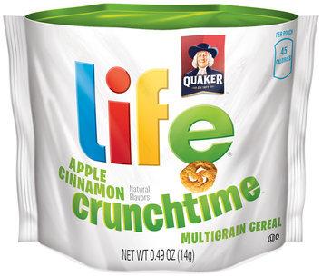 Quaker Life® Go Snacks Crunchtime Apple Cinnamon Cereal