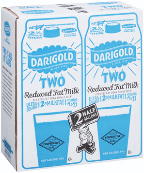 Darigold® Reduced Fat Milk 2-0.5 gal. Cartons