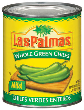 Las Palmas Whole Green Mild Chiles 27 Oz Can