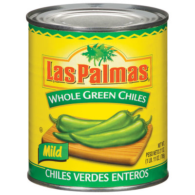 Las Palmas Whole Green Mild Chiles 27 Oz Can