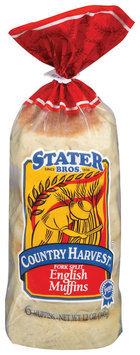 Stater Bros. Fork Split English Muffins 6 Ct Bag
