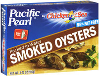 Pacific Pearl® by Chicken of the Sea® Smoked Oysters Packed in Water 3.75 oz