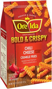 Ore-Ida® Bold & Crispy Chili Cheese Crinkle Fries Seasoned French Fried Potatoes 26 oz. Bag
