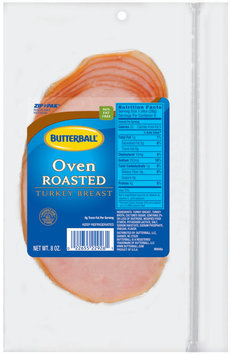 Butterball Oven Roasted Turkey Breast 8 Oz Zip Pak