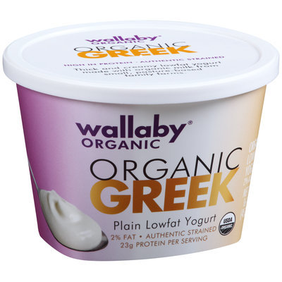 Wallaby® Organic Greek Plain Lowfat Yogurt 16 oz. Tub
