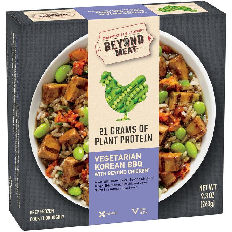 Beyond Meat Vegetarian Korean Bbq With Beyond Chicken 93 Oz Box