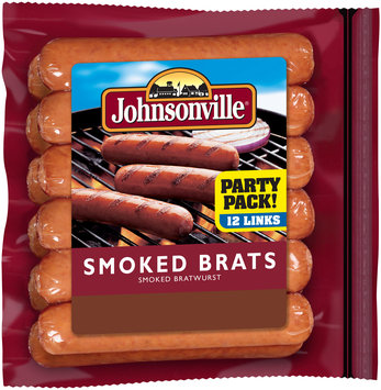 Johnsonville Smoked Brats 28oz zip pkg (102459)