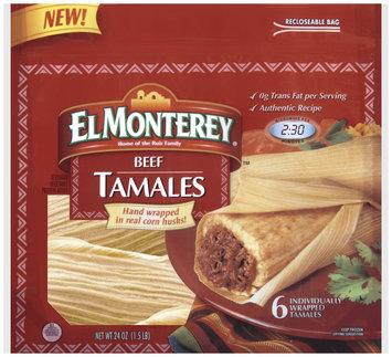 El Monterey Beef 6 Ct Tamales 24 Oz Bag