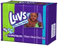 Luvs Ultra Clean Baby Wipes 154 ct Box