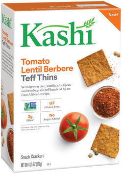 Kashi® Tomato Lentil Berbere Teff Thins Snack Crackers 4.25 oz. Box