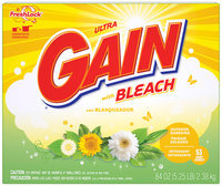 Gain® Ultra Outdoor Sunshine Bleach with FreshLock Powder Laundry Detergent 84 oz. Box