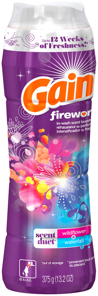 fireworks gain fireworks scent duets laundry scent booster beads, wildflower and waterfall,