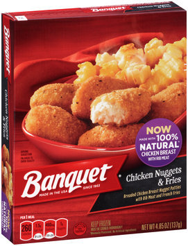 Banquet® Chicken Nuggets & Fries 4.85 oz. Box