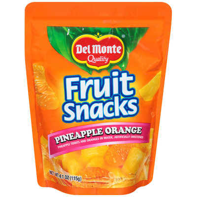 Del Monte® Quality Pineapple Orange Fruit Snacks 4.1 oz. Pouch