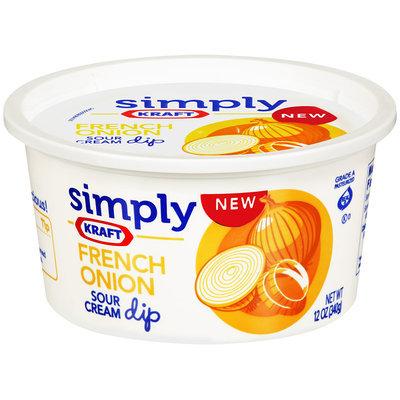 Simply Kraft French Onion Sour Cream Dip 12 oz Plastic Tub