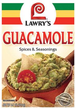Dry Seasoning Guacamole Lawry's Spices & Seasonings .7 Oz Packet