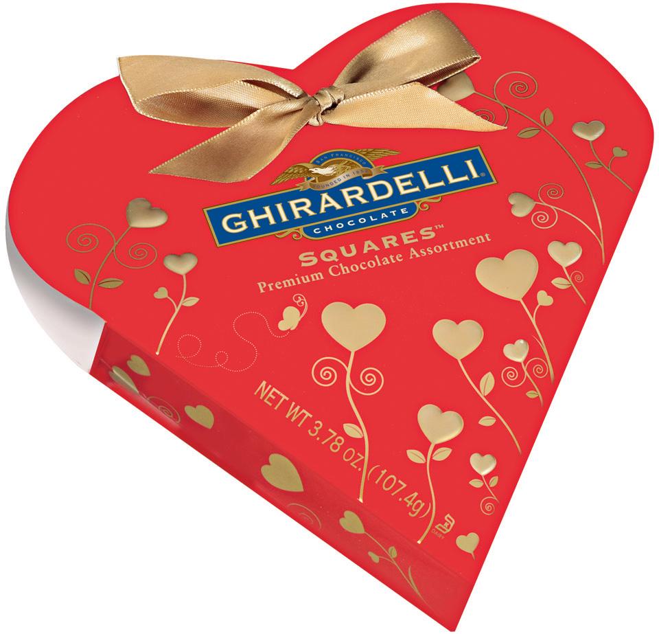 Ghirardelli Chocolate Squares Premium Chocolate Assortment Mini Red Heart Gift Chocolate Box