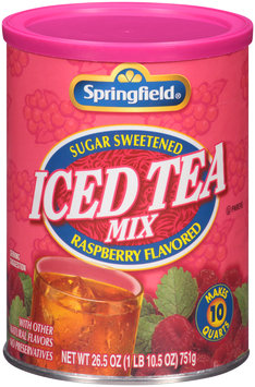 Springfield® Sugar Sweetened Raspberry Flavored Iced Tea Mix 26.5 oz. Canister