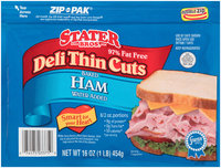 Stater Bros.® Deli Thin Cuts Baked Ham 16 oz. ZIP-PAK®