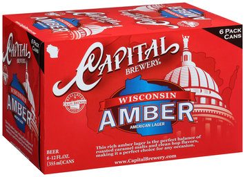 Capital Brewery® Wisconsin Amber® American Lager 6-12 fl. oz. Cans