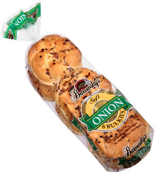 Barowsky's® Onion Bulkies Enriched Rolls 6 ct Bag
