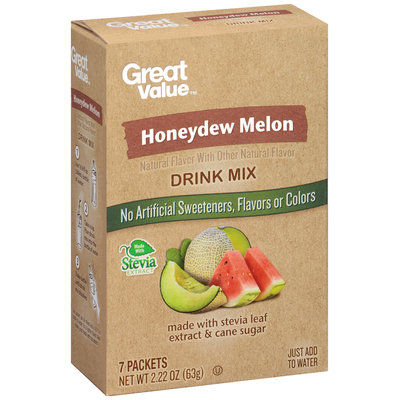 Great Value™ Honeydew Melon Drink Mix 2.22 oz. Box