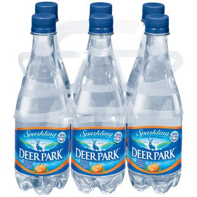 Deer Park Sparkling Natural Spring Water Orange Essence .5L Single & 6 Pk Plastic Bottles
