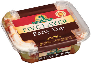 Santa Barbara® Medium Five Layer Party Dip 16 oz. Tub