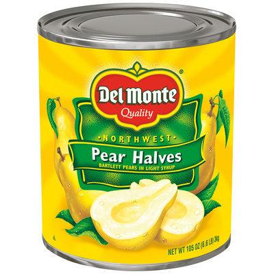Del Monte™ Northwest Bartlett Pear Halves in Light Syrup 105 oz. Can
