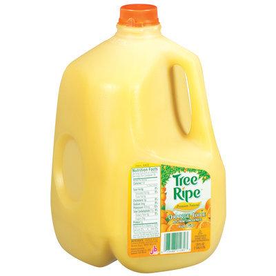 Tree Ripe Premium Natural W/Pulp Orange Juice 128 Fl Oz Plastic Jug