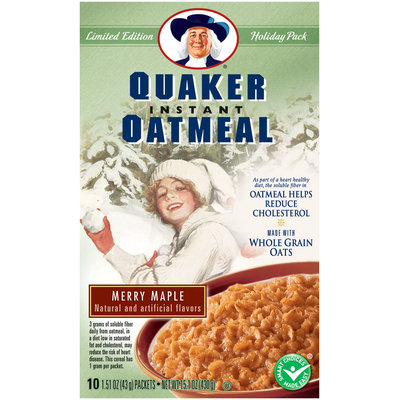 Quaker® Oatmeal Holiday Pack Merry Maple 10 Ct Instant Oatmeal
