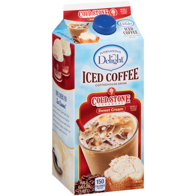 International Delight® Cold Stone Creamery™ Sweet Cream Iced Coffee Coffeehouse Drink 0.5 gal. Carton