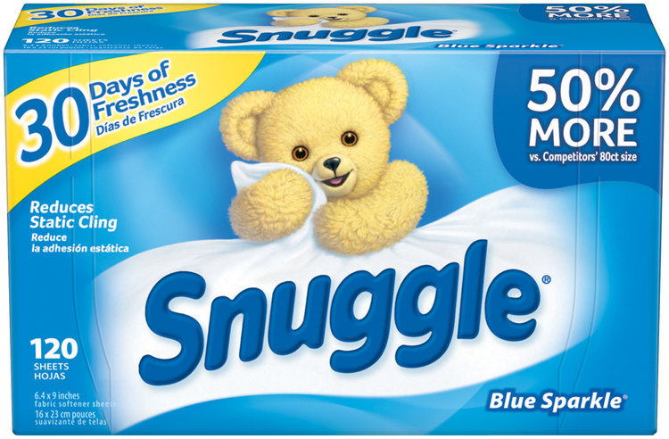 Snuggle® Blue Sparkle® Fabric Softener Dryer Sheets 120 ct Box