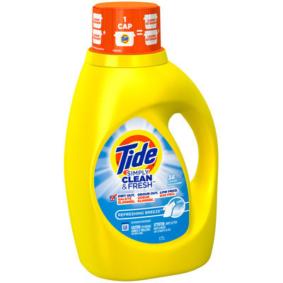 Tide Simply Clean & Fresh HE Liquid Laundry Detergent, Refreshing Breeze Scent, 38 Loads 60 Fl Oz