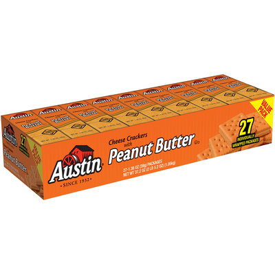 Austin® Cheese Crackers with Peanut Butter 27-1.38 oz. Packages